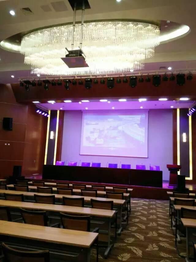舟山国际水产城会议中心专业音响灯光设备完工